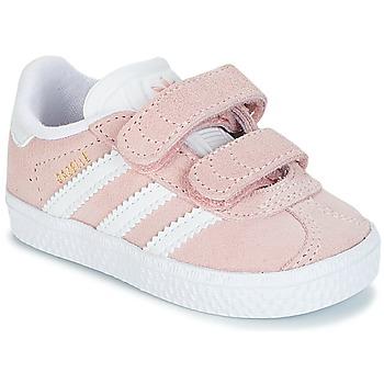 kengät Tytöt Matalavartiset tennarit adidas Originals GAZELLE CF I Pink