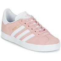 kengät Tytöt Matalavartiset tennarit adidas Originals GAZELLE C Pink