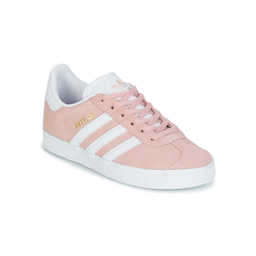 kengät Tytöt Matalavartiset tennarit adidas Originals GAZELLE C Pink 3affd5c210