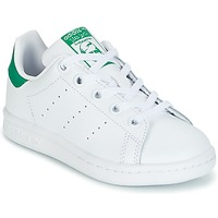 kengät Lapset Matalavartiset tennarit adidas Originals STAN SMITH C White / Green