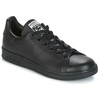 kengät Lapset Matalavartiset tennarit adidas Originals STAN SMITH J Black