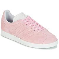 kengät Naiset Matalavartiset tennarit adidas Originals GAZELLE STITCH Pink