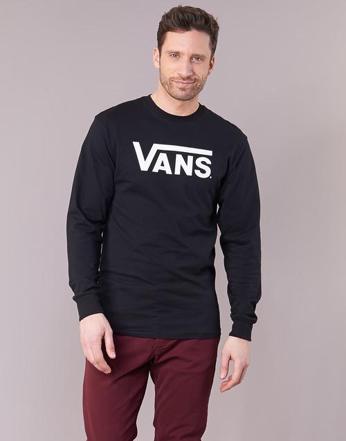 vaatteet Miehet T-paidat pitkillä hihoilla Vans VANS CLASSIC Black