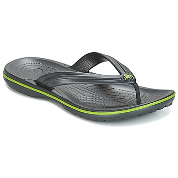 kengät Varvassandaalit Crocs CROCBAND FLIP Black / Green