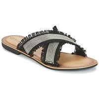 kengät Naiset Sandaalit Moony Mood IRTA Black / Hopea