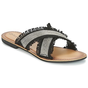 kengät Naiset Sandaalit Moony Mood IRTA Black / Argenté