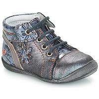 kengät Tytöt Bootsit GBB ROSEMARIE Grey / Sininen-kuvioitu / Dpf / Kezia