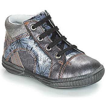 kengät Tytöt Korkeavartiset tennarit GBB ROSETTA Hopea / Blue