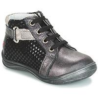 kengät Tytöt Korkeavartiset tennarit GBB RICHARDINE Black / Grey