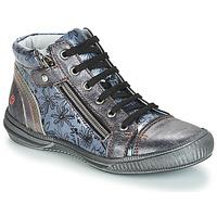 kengät Tytöt Bootsit GBB RACHIDA Grey / Sininen-kuvioitu / Dpf