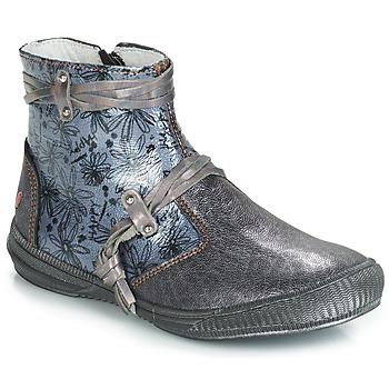 kengät Tytöt Bootsit GBB REVA Grey / Blue
