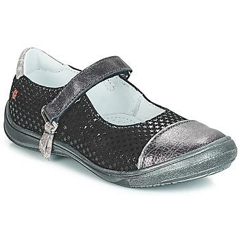 kengät Tytöt Balleriinat GBB RIKA Black / Hopea