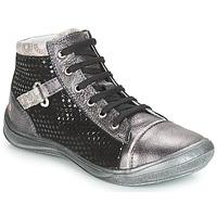 kengät Tytöt Korkeavartiset tennarit GBB ROMIE Grey / Black