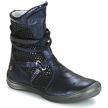 kengät Tytöt Saappaat GBB ROSANA Blue / Black