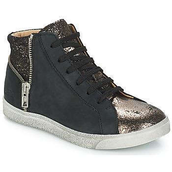 kengät Tytöt Korkeavartiset tennarit GBB CARLA Black / Bronze