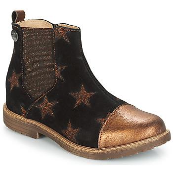 kengät Tytöt Bootsit GBB LEONTINA Black / Cuivré