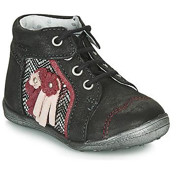 kengät Tytöt Bootsit Catimini RAINETTE Musta / Hopea