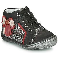 kengät Tytöt Bootsit Catimini RHUBARBE Black / Hopea