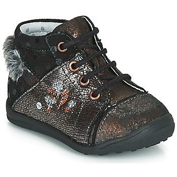 kengät Tytöt Bootsit Catimini ROULETTE Black