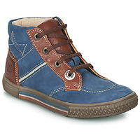 kengät Pojat Bootsit Catimini RUMEX Blue / Brown