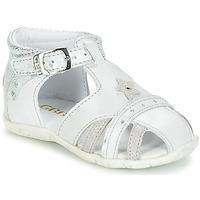 kengät Tytöt Sandaalit ja avokkaat GBB SUZANNE Harmaa-metallinen / Dpf
