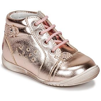 kengät Tytöt Korkeavartiset tennarit GBB SIDONIE Pink / Kulta