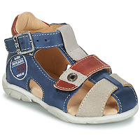 kengät Pojat Sandaalit ja avokkaat GBB SULLIVAN Sininen / Beige / Ruskea