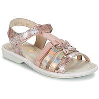 kengät Tytöt Sandaalit ja avokkaat GBB SCARLET Vaalenapunainen-kuvioitu / Dpf / Nicla
