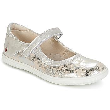 kengät Tytöt Balleriinat GBB PLACIDA Beige / Argenté