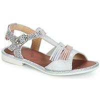kengät Tytöt Sandaalit ja avokkaat GBB MARIA Argenté / Dpf / Musta / valkoinen