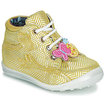 kengät Tytöt Korkeavartiset tennarit Catimini SALAMANDRE Yellow