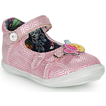 kengät Tytöt Balleriinat Catimini SITELLE Vaaleanpunainen / Hopea