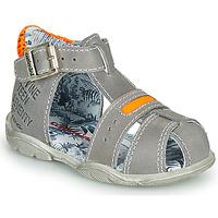 kengät Pojat Sandaalit ja avokkaat Catimini SPHINX Nus / Harmaa-oranssi / Dpf / Filou