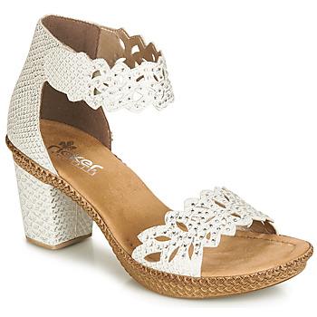 kengät Naiset Sandaalit ja avokkaat Rieker BELALIER White