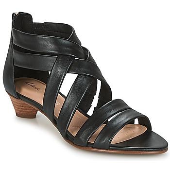 kengät Naiset Sandaalit ja avokkaat Clarks MENA SILK Black