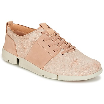kengät Naiset Matalavartiset tennarit Clarks TRI CAITLIN Pink