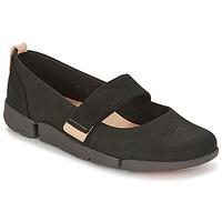 kengät Naiset Balleriinat Clarks TRI CARRIE Black