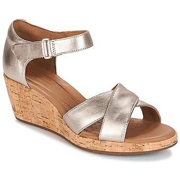 kengät Naiset Sandaalit ja avokkaat Clarks UN PLAZA CROSS Gold