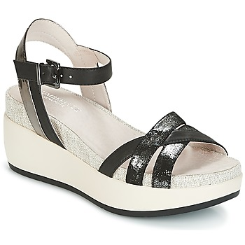kengät Naiset Sandaalit ja avokkaat Lumberjack BLANCHE Black / Argenté