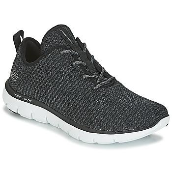kengät Naiset Matalavartiset tennarit Skechers FLEX APPEAL 2.0 Black
