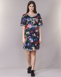 vaatteet Naiset Lyhyt mekko Love Moschino W5A0302 Black / Monivärinen