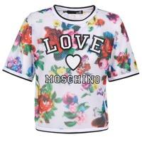 vaatteet Naiset Topit / Puserot Love Moschino W4G2801 White / Monivärinen