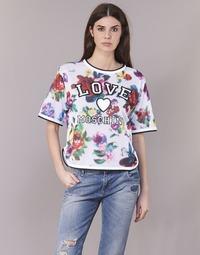 vaatteet Naiset Topit / Puserot Love Moschino W4G2801 White / Multicolour