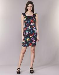 vaatteet Naiset Lyhyt mekko Love Moschino WVG3100 Black / Monivärinen