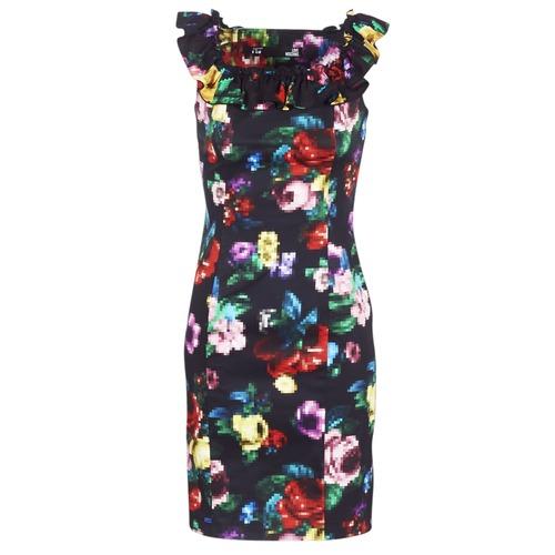 vaatteet Naiset Lyhyt mekko Love Moschino WVG3100 Black / Multicolour