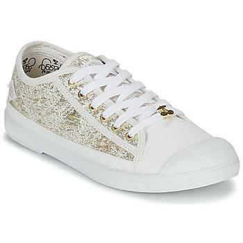 kengät Naiset Matalavartiset tennarit Le Temps des Cerises BASIC 02 Kulta