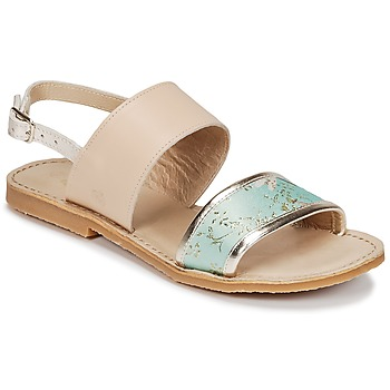 kengät Tytöt Sandaalit ja avokkaat Citrouille et Compagnie IOCHARLI Beige / Blue