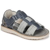 kengät Pojat Sandaalit ja avokkaat Citrouille et Compagnie IOUTIKER Sininen / Harmaa