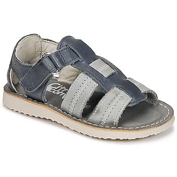 kengät Pojat Sandaalit ja avokkaat Citrouille et Compagnie IOUTIKER Blue / Grey