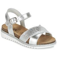 kengät Tytöt Sandaalit ja avokkaat Citrouille et Compagnie GAUFRETTE Hopea